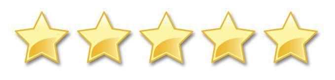 feedback de 5 estrellas
