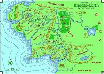 mapa de rios tierra media y link juice