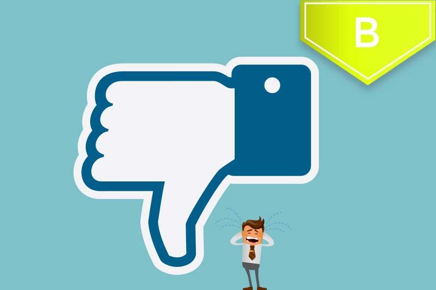 anuncio de facebook rechazado
