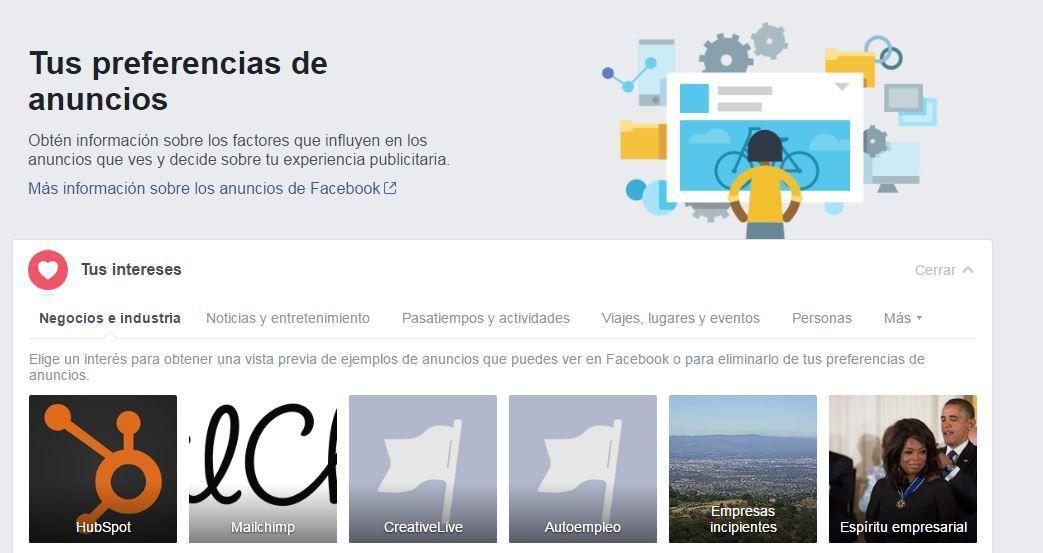 Facebook Ads - Preferencias de Anuncios