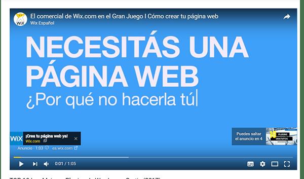 publicidad antes del video en youtube
